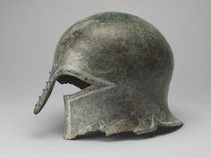 Corinthian helmet. Third quarter of the seventh century BC.   Louvre Museum