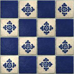 LeMog - 3dTextures - Carrelage Azuleros Bleus 2 - Tiles/310 antigua