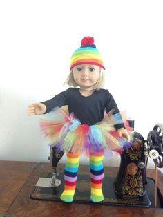 Items similar to Rainbow tutu fits American Girl Dolls on Etsy Rainbow Party Favors, Rainbow Parties, American Girl Doll Costumes, Girl Outfits, Casual Outfits, Rainbow Tutu, Clothing Patterns, Girl Dolls, Halloween Party