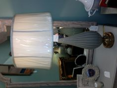 Back to the blue!  These lamps are so beautiful in person!
