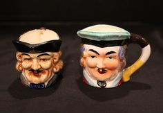 Lot of 2  Vintage TOBY Mugs Miniature by vintagekitchenhome