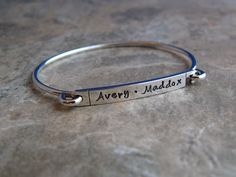 Hand Stamped Name Bracelet by namejewelrydesigns on Etsy, $43.00