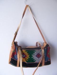 Vintage Southwestern Barrel Bag by ToatsMcgoats on Etsy
