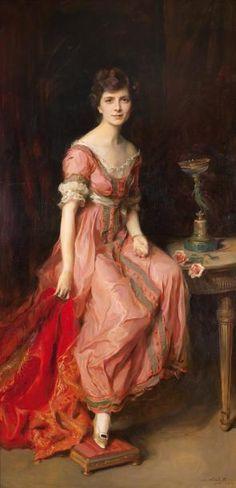 Philip Alexius de Laszlo (1869-1937) Portrait of Sophica Jurdens-stiffened, Countess of Isnards, 1919