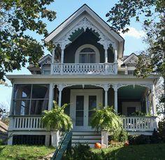 Sag Harbor Victorian house on Main Street.