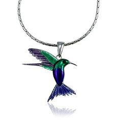 Guy Harvey Enameled Hummingbird Pendant Crafted in Sterling Silver with 18 Inch Adjustable Necklace Chain Guy Harvey Jewelry http://www.amazon.com/dp/B00KYC7NH2/ref=cm_sw_r_pi_dp_Uq1Zvb1YF25QZ