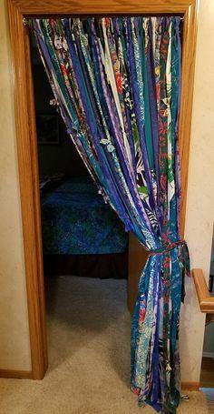 Rag Curtains, Bohemian Curtains, Blackout Curtains, Boho Diy, Bohemian Decor, Cortina Boho, Doorway Curtain, Diy Home Decor, Venice Cafe