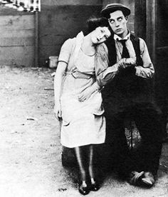 Virginia Fox and Buster in Neighbors (1920) - she was his leading lady in 10 of his 19 two-reelers