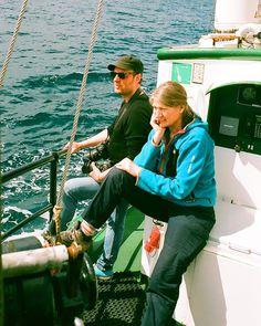 Daph and Will those salty sea dogs.      #filmisnotdead #shootfilm #filmphotography #filmstagram #filmcommunity #35mm #lovefilm #analogphotography #sailing #boat #endoceanplastics #ocean