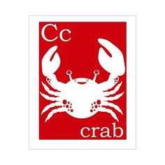 C is for Crab 8x10 inch print by Finny and Zook by KZukowski, $12.00