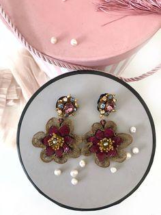 Bride Earrings, Natural Stones, Swarovski Crystals, Jewelry Making, Brooch, Embroidery, Pearls, Jewels, Bridal Earrings