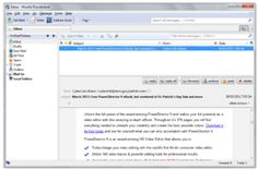 Email - The interface of an email client, Thunderbird