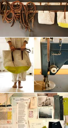 Take a look at how Susan Hoff uses her Ultrafeed Sewing Machine to make bags using reclaimed sailcloth and leather.