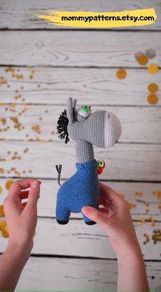 Easy crochet pattern toy Donkey for kids. for beginners videos Crochet pattern Donkey / Amigurumi pattern / Crochet pattern toy Donkey Easter Crochet Patterns, Crochet Patterns For Beginners, Crochet Patterns Amigurumi, Knitting For Beginners, Crochet Dolls, Step By Step Crochet, Easy Crochet, Kids Crochet, Free Crochet