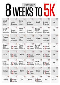 5K training plan, with strength training
