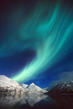 ~~Northern Lights Over Portage ~ Portage Lake & Chugach Mountains, Alaska by Daryl Pederson~~