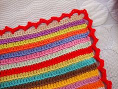 Stripey Blanket Edging :: Free #Crochet Edging Patterns!