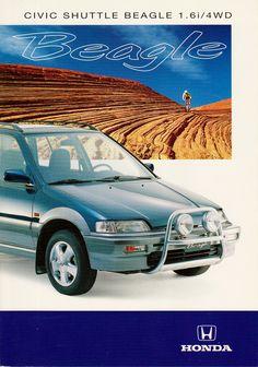 Honda Civic Mk4 Shuttle Beagle 4WD Switzerland Brochure 1994