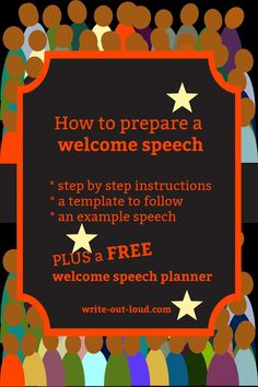 All the guidelines, with examples, to help you put together a welcome speech for an event. With a free downloadable planner. Speech Writing Tips, Writing Strategies, Planner Writing, Public Speaking, Learn English, Esl, Teacher Resources, Welcome, Lesson Plans
