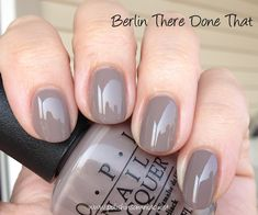 OPI Germany Collection ♥ Part Three (The Neutrals) I know, I know. OPI Don't… - Christmas Deesserts Taupe Nails, Neutral Nails, Nagellack Design, Nagellack Trends, Opi Gel Polish, Opi Nails, Opi Nail Colors, Manicure And Pedicure, Trendy Nails