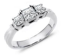 0.55 ct The Exquisite Three Stone Diamond Band