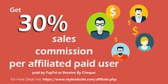 Get receive 30% sales commission per affiliated paid user  https://www.myleadssite.com/affiliate.php