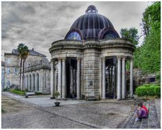 Mondariz Balneario Town in Pontevedra, Galicia, Spain.