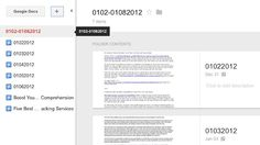Preview Folders and Documents in Google Docs