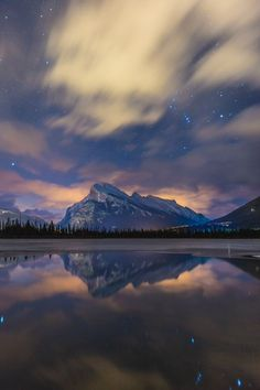 The Night Court [Mount Rundle, Banff, Canada - Andrew Caitens]