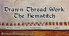Drawn Thead Work: The Hemstitch (Tutorial) | | The German Renaissance of Genoveva