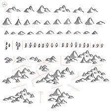 how to draw mountains Fantasy Map Making, Fantasy World Map, Mountain Drawing, Mountain Sketch, Pen & Paper, Map Symbols, Rpg Map, Map Icons, Map Projects