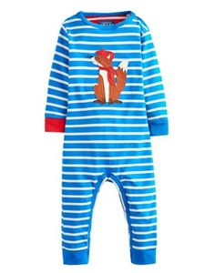 Another eye catching and unique babygrow from Joules. Super bright blue stripes with contrasting red cuff makes this Joules babygrow a must for your little one. Adorning the front is a county fox applique character. Baby Boy Applique, Playsuit Dress, Designer Baby Clothes, Baby Swaddle, Joules, Baby Grows, Baby Boy Outfits, Blue Stripes, Cute Babies