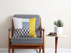 DIY Inspiration Patterned Patchwork Pillow 3 18.5 x 18.5 in. by cottonandflaxshop