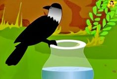 The thirsty crow look around for inspiration