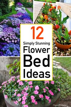 Looking for stunning flower bed ideas that with serious style? Look no further. Here you will find gorgeous arrangement ideas, planting tips, and colorful combinations. Flower Bed Designs, Flower Garden Design, Small Garden Design, Garden Yard Ideas, Lawn And Garden, Garden Projects, Front Flower Beds, Raised Flower Beds, Planting Bulbs