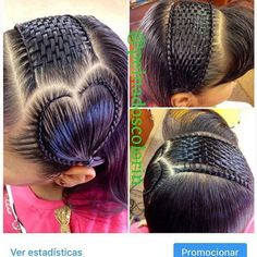 Beautiful braids and basket weave Little Girl Hairstyles, Unique Hairstyles, African Hairstyles, Braided Hairstyles, Natural Hair Styles, Long Hair Styles, Beautiful Braids, Unique Braids, Toddler Hair