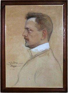 This portrait is made by Albert Edelfelt after Sibelius moved with his family to Ainola in 1904. The painting is still there reminding of the history. #Edelfelt #Ainola #Sibelius