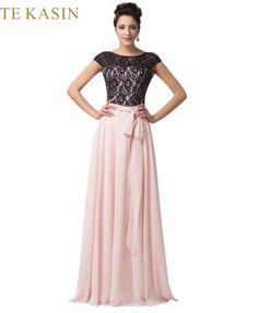 Long Evening Dresses Neck Formal Gown - Lalbug.com. Plesové ŠatyVečerné ... acebd0b1ac