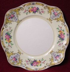 JOHNSON BROTHERS china YALE pattern SQUARE SALAD OR DESSERT PLATE