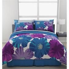 Formula Giant Floral Reversible Bed In A Bag Bedding Set Queen Size Comforter