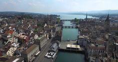 Zurich Drone View by DJI Phantom 3 Pro 4K HD