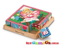 Create+6+Princess+and+Fairies+Scenes!  Material+:+Wood  Brand:+Melissa+&+Doug  Pieces:+16  Ages+3+