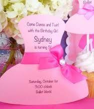 Invitation wording ideas for ballerina birthday. Also...we're tu tu excited to celebrate (name)'s birthday!