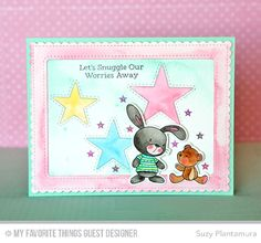 Snuggle Bunnies, Snuggle Bunnies Die-namics, Blueprints 27 Die-namics, Inside & Out Stitched Rectangle STAX Die-namics, Inside & Out Stitched Stars Die-namics - Suzy Plantamura  #mftstamps