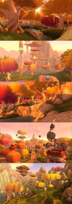 Eversong Woods (screenshots) World of Warcraft Wow Elf, Elf City, World Of Warcraft 3, Wow World, Blood Elf, Fantasy Setting, Environment Concept, Environmental Art, Fantasy Landscape