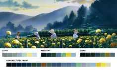 I got to make some color palettes for the best animation studio around, Studio Ghibli, to promote their newest and, sadly, last film When Marnie Was There. They've done Princess Mononoke, Spirited...