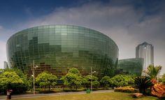 Shanghai Oriental Arts Center, by Paul Andreu Architect