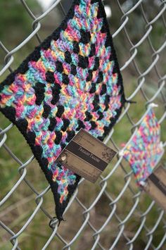 bucket list ~ Yarn bomb - granny square on fence - of course the practical person in me would probably yarn bomb a crochet cotton dishcloth or something useful.  :)