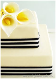Calla cake...how to make gum paste calla lily