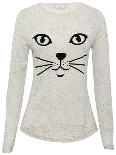 Flocked cat face top